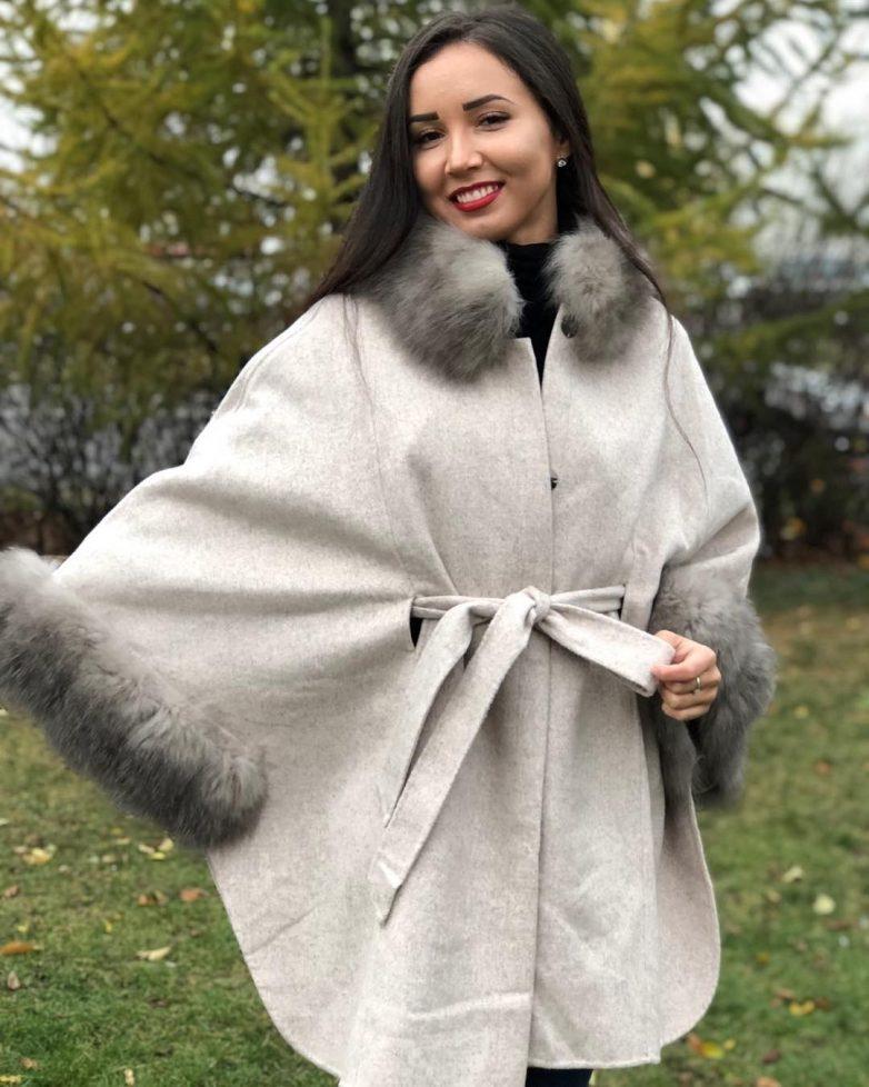 Женственное пальто летучая мышь 2020