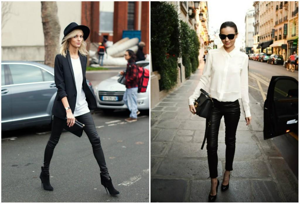 Как носить кожаные брюки после 40