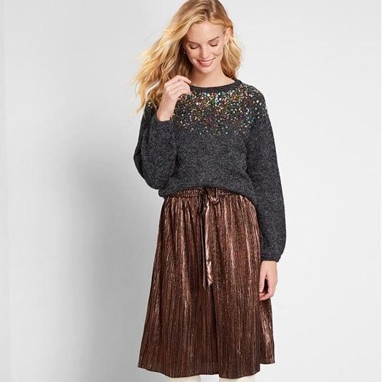 Тёплые и стильные юбки на эту зиму