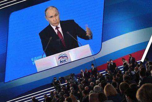 Путин назвал первую пятерку списка «Единой России» на выборах в Госдуму