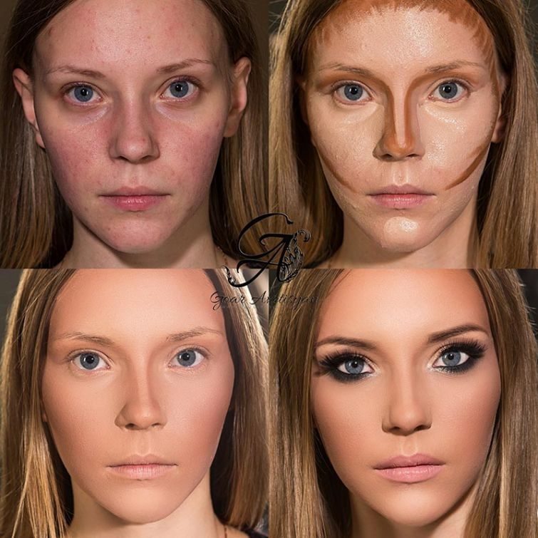 имеет как на фото изменить лицо человека лаком