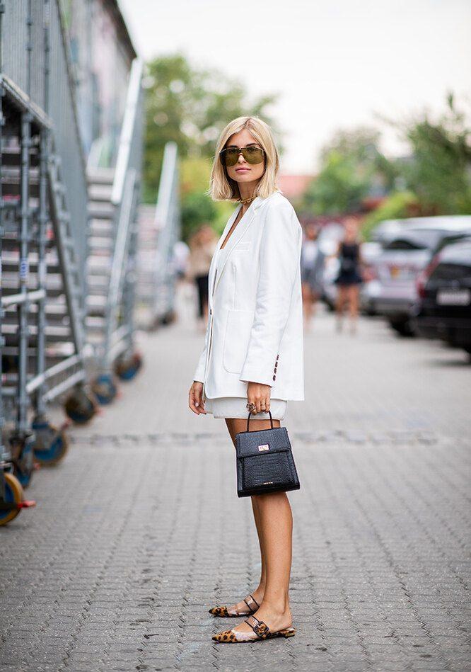 Как и с чем носить белый блейзер летом-2020