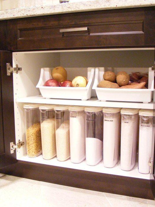 d6e9eeda52 Стильные и практичные системы хранения для кухни Фото