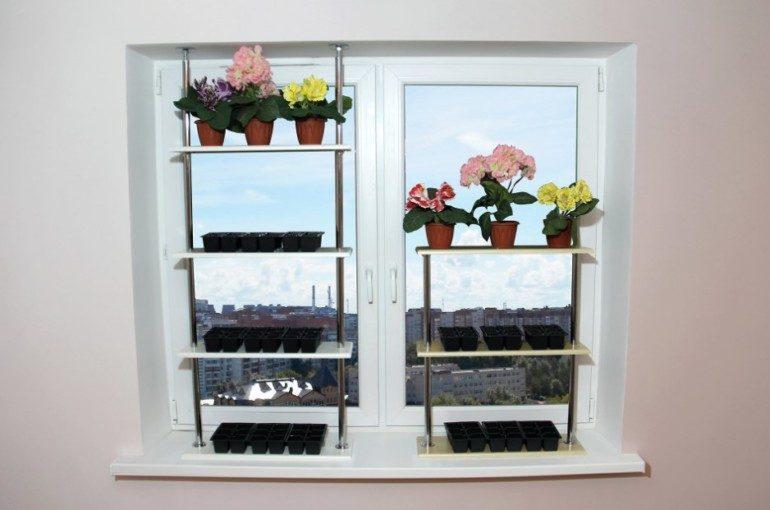 Полки на подоконник под комнатные цветы