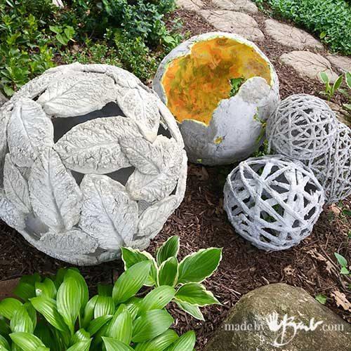 Интересный декор для сада