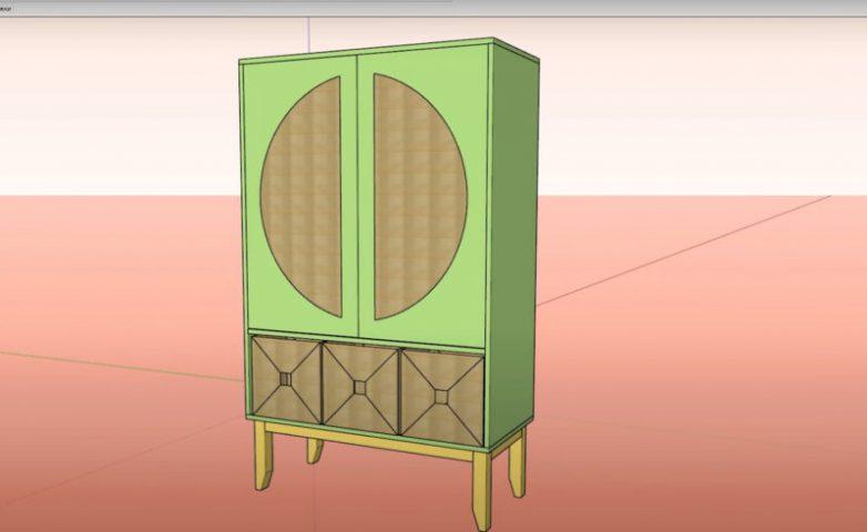 Дизайнерский шкаф своими руками