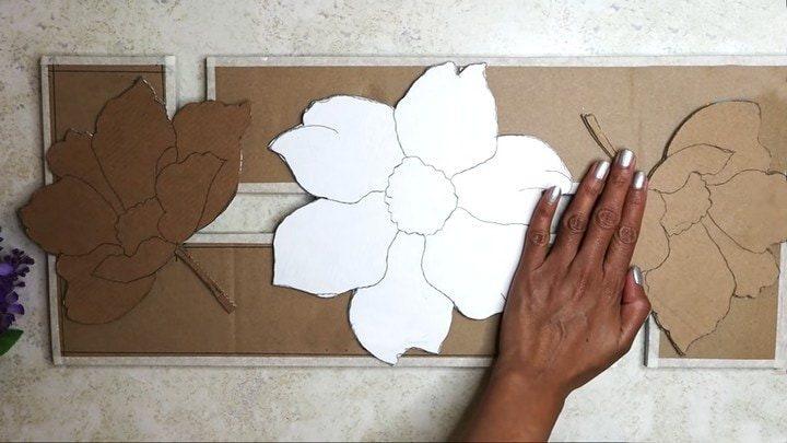 Интересный декор из картонного ящика