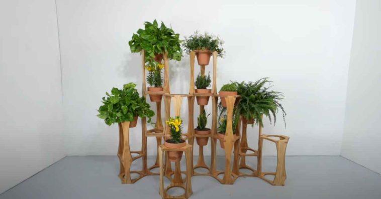 Модульные подставки для цветочных горшков