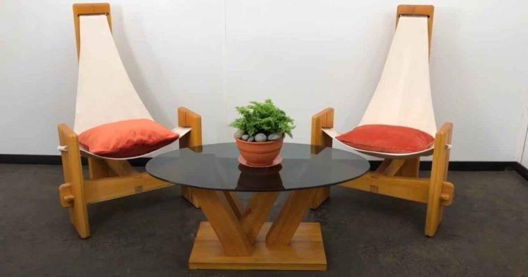 Удобное садовое кресло на трёх ножках своими руками