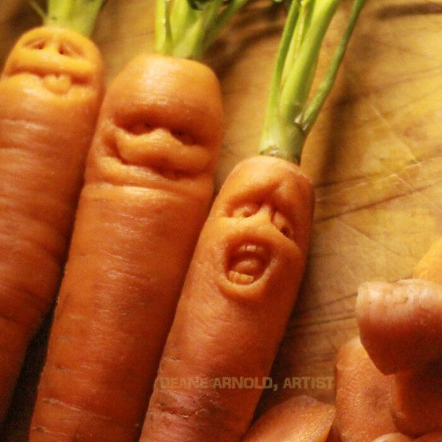 Забавные персонажи из овощей и фруктов