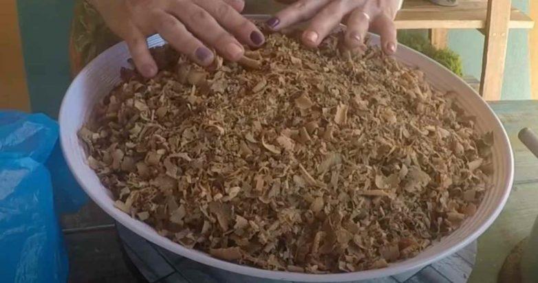 Самодельные горшки из древесных опилок