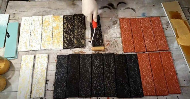 Декоративные кирпичики из гипсокартона