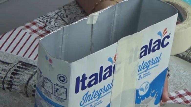 Оригинальное использование коробки от молока