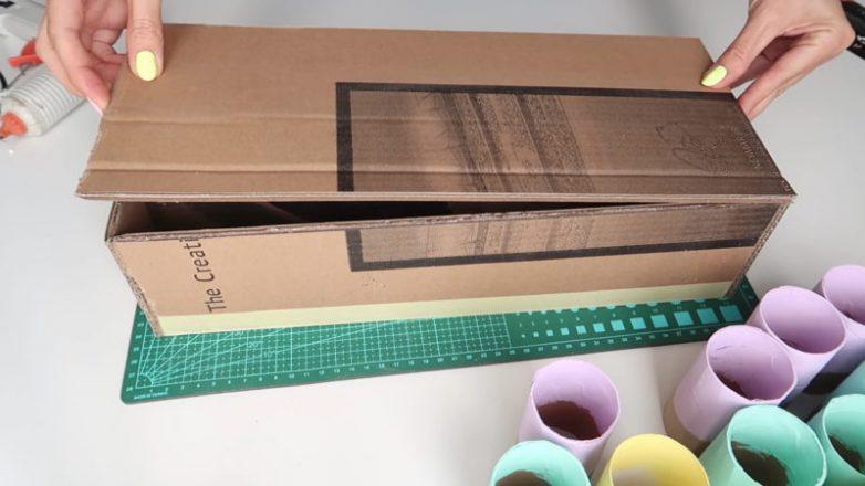 Идея применения картона и втулок