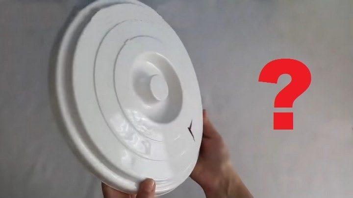 Как креативно можно использовать сломанную крышку от пластикового ведра