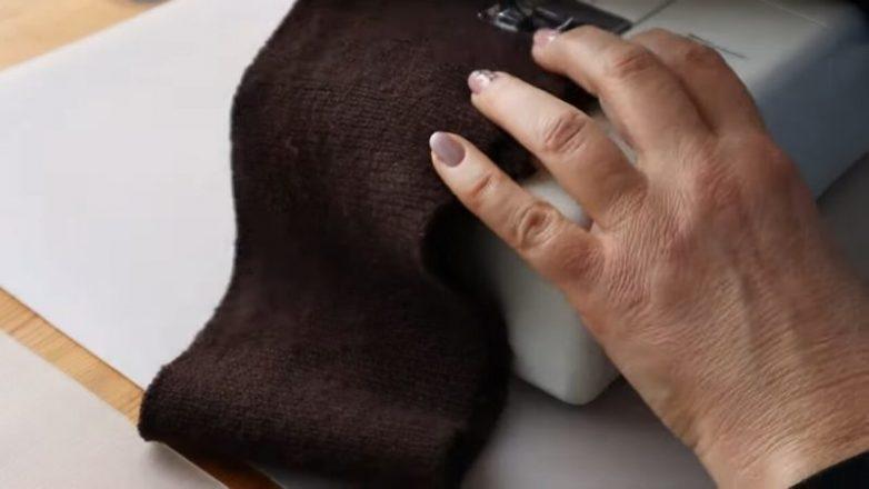 Тёплая вещица на осень, сшитая из остатков красивой ткани