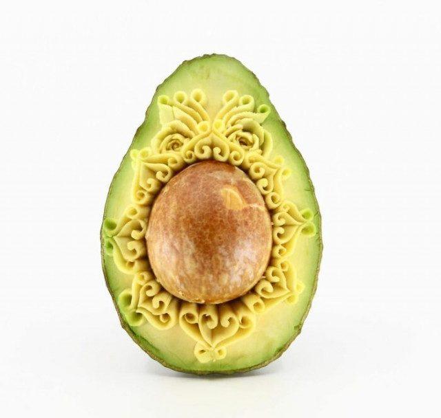 Восхитительные резные шедевры из авокадо