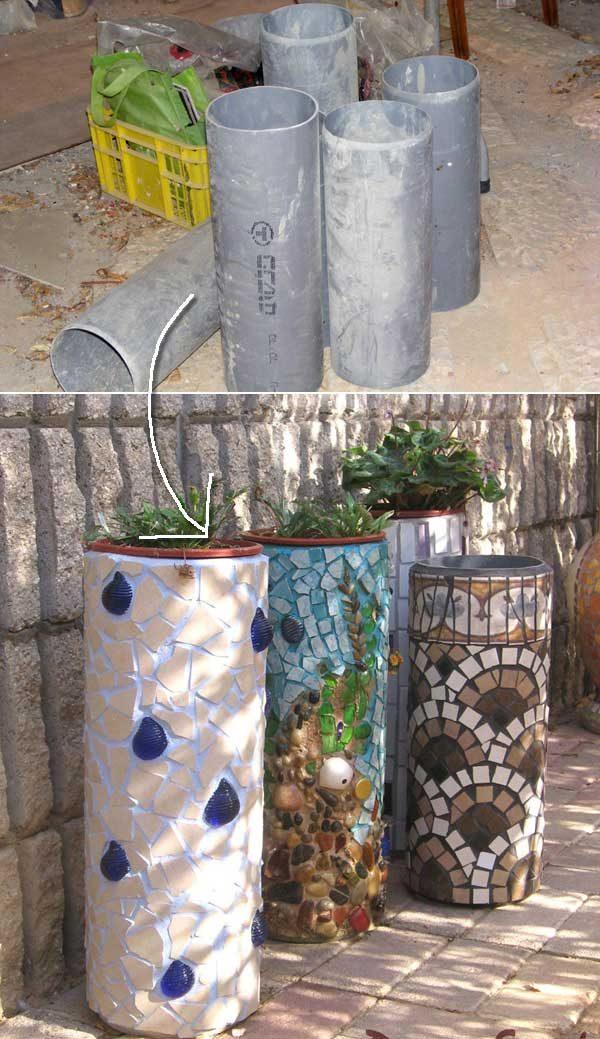 Недорогие садовые проекты из ПВХ-труб