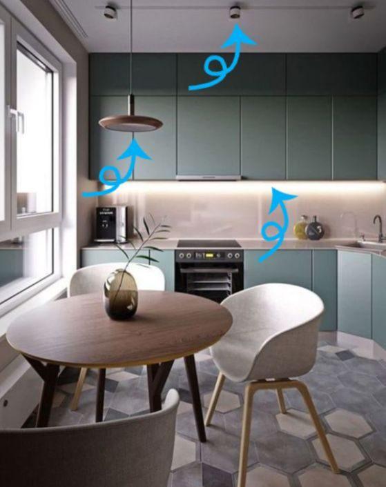10 идей для грамотной организации пространства на маленькой кухне