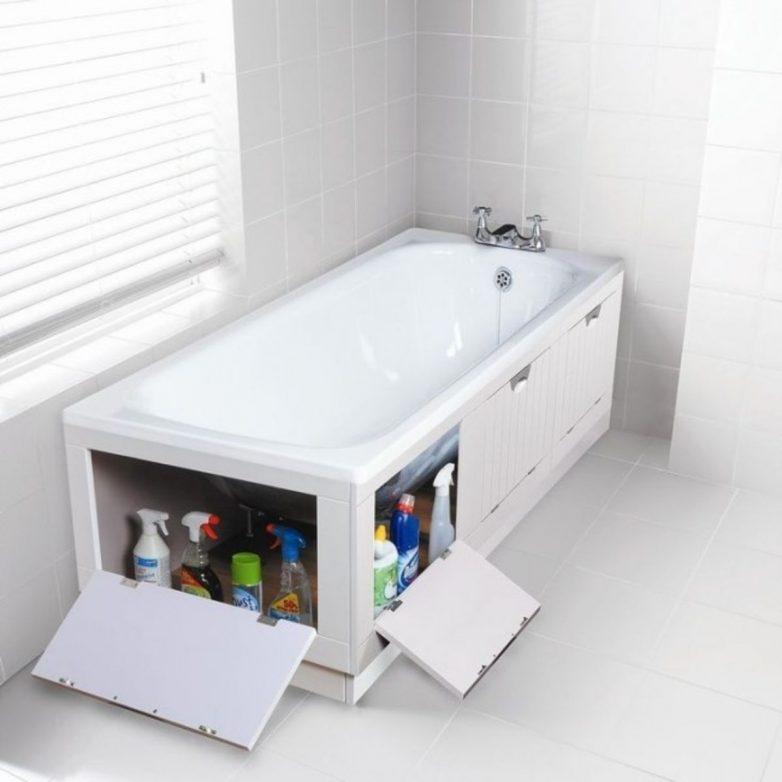Идеи для хранения вещей в ванной комнате