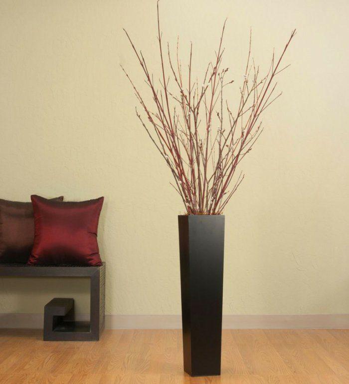 Напольная ваза в интерьере