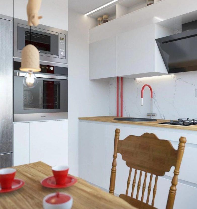 Стильные идеи переделки хрущёвской кухни