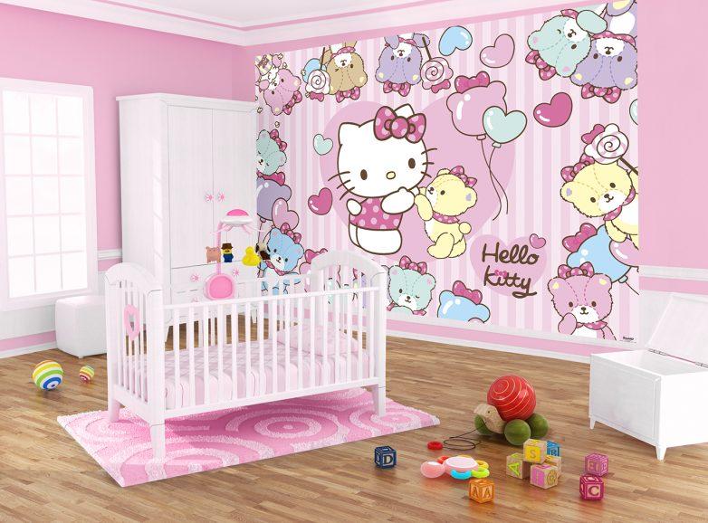 Детская комната для девочки в стиле Hello Kitty / Малютка