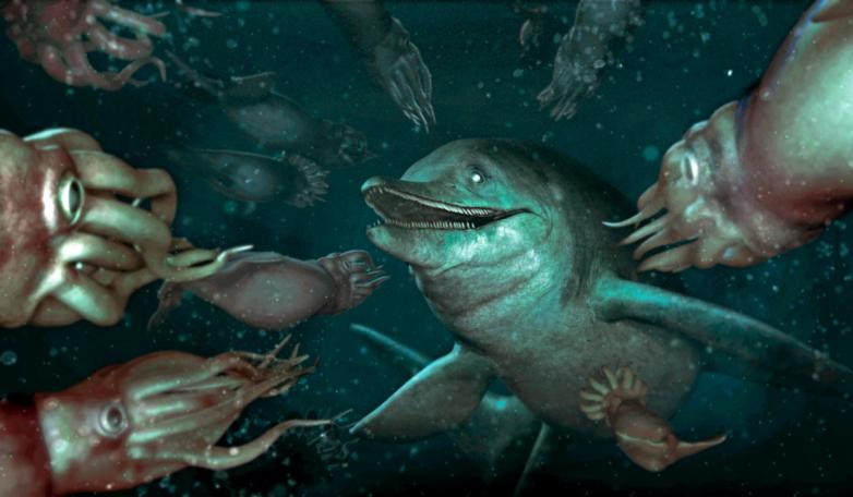 Ихтиозавр: диковинная зверушка древнего мира