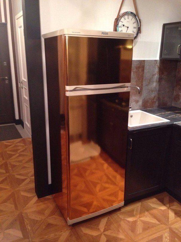 одно как сделать старый холодильник новым фото серая или серо-коричневая