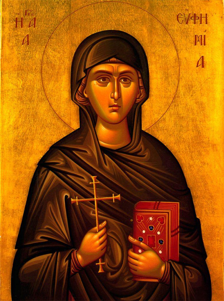 История святой великомученицы Евфимии Халкидонской