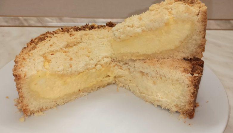 Насыпной пирог с творогом «Королевская ватрушка»