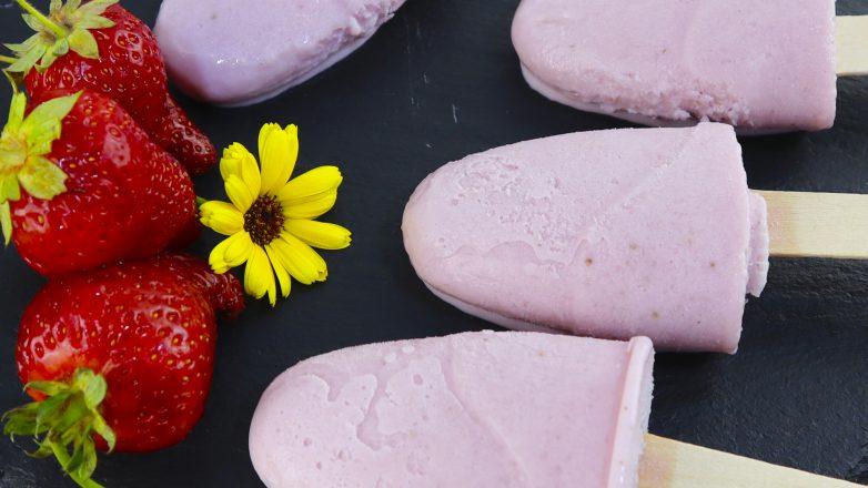 Мороженое из клубники и молока в домашних условиях без сливок!