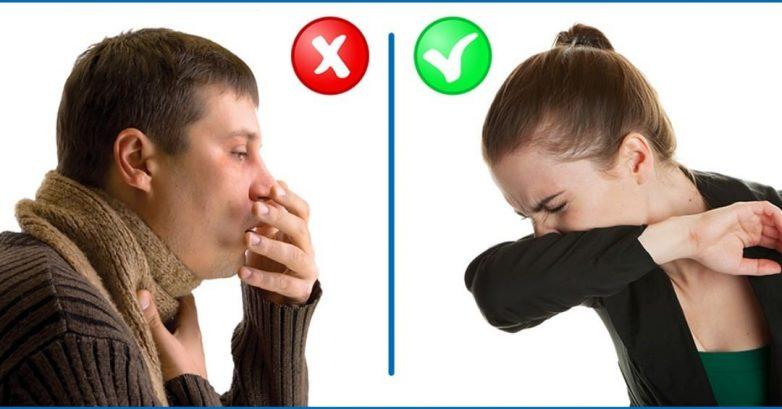 Что такое респираторный этикет или почему нельзя чихать в ладонь
