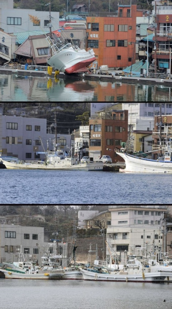 фото спустя лет цунами япония кружка