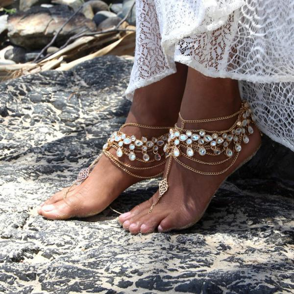 Украшения для ног на лето