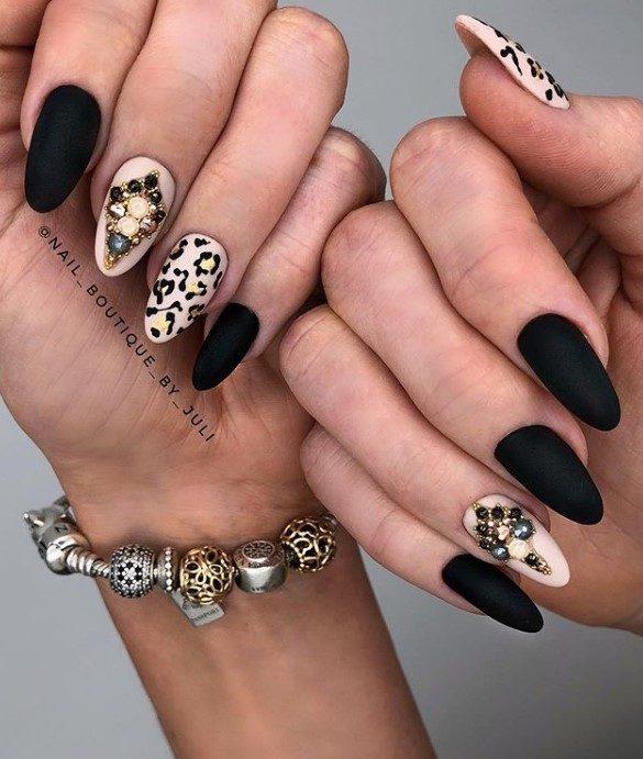 Шикарные идеи леопардового маникюра