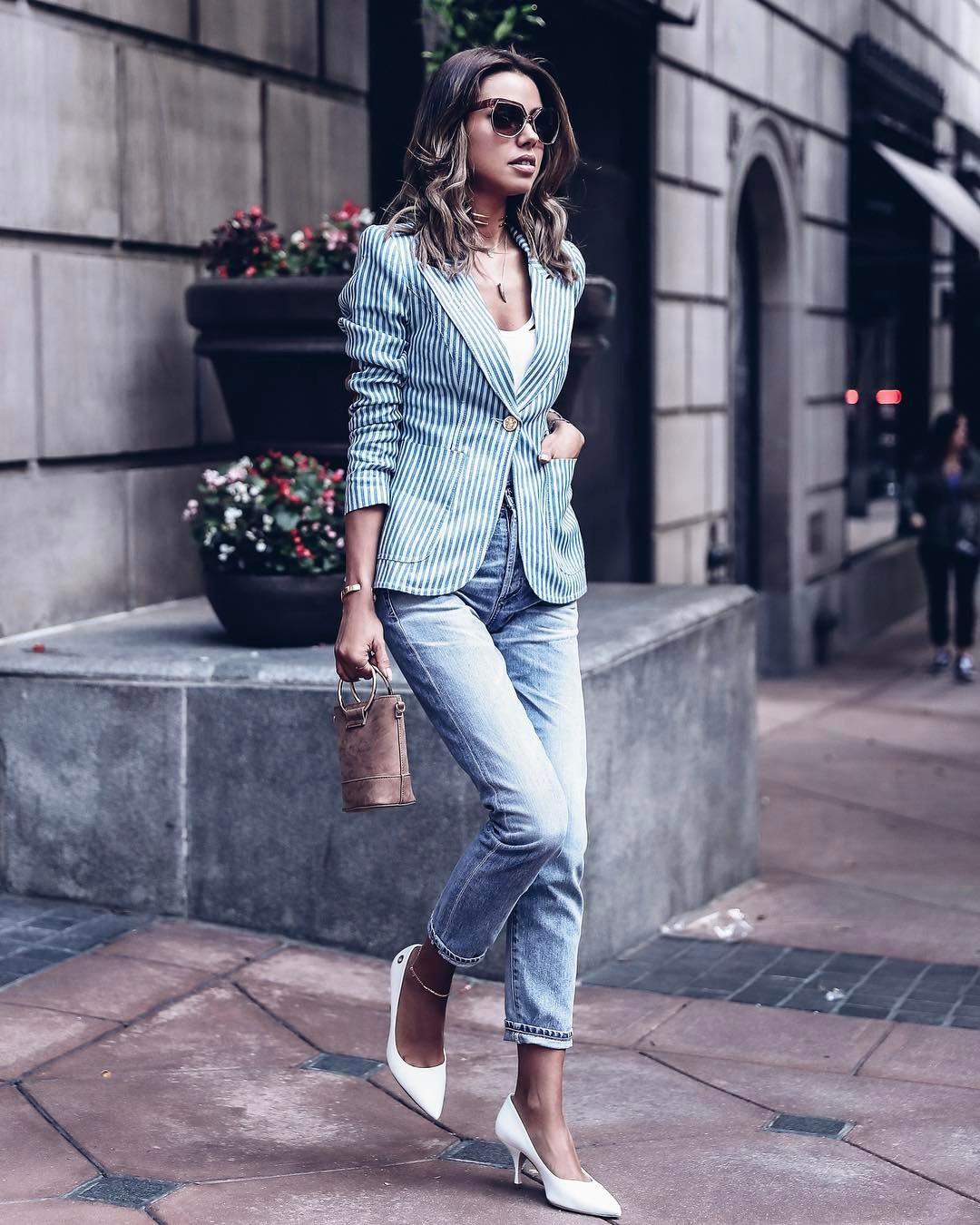 Как носить джинсы в офис, чтобы выглядеть неотразимо